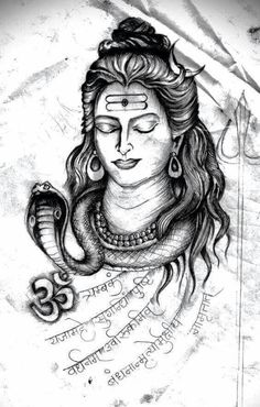 Here you will find most beautiful and attractive Shiva tattoo designs and ideas for your Shiva tattoos, Lord shiva beautiful tattoos and designs for men and women. Arte Shiva, Mahakal Shiva, Shiva Art, Hindu Art, Rudra Shiva, Lord Shiva Painting, Ganesha Painting, Hindu Tattoos, Arm Tattoos