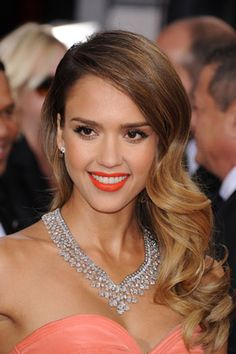61 Ideas For Makeup Bridal Natural Brunette Jessica Alba Jheri Curl, Blonde With Pink, Jessica Alba, Party Hairstyles, Ombre Hair, Bridal Makeup, Hair Looks, Her Hair, Hair Inspiration