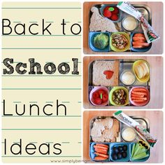 Back to school is a busy time everyone. These back to school lunch ideas should make meal planning lunches for your little people easier and less stressful. If you like bento lunches, I think you like some of these.