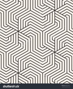 Vector seamless pattern. Modern monochrome texture. Repeating abstract background. Trendy design with hexagonal linear grid.. Stylish hipster print which can be used for cover, card, stencil etc