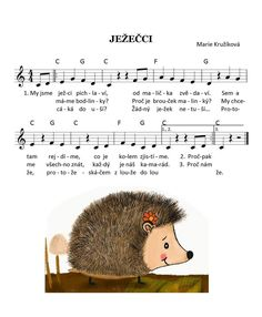 Kids Songs, Musical, Coloring Pages, Sheet Music, Crafts For Kids, Preschool, Crochet Hats, Mario, Hedgehogs