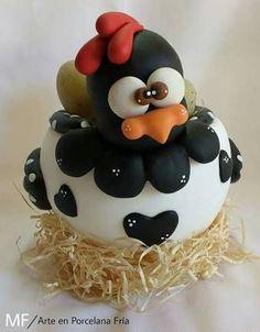 Resultado de imagen para como hacer gallinas en porcelana fria
