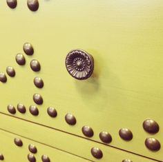 Sometimes it's all in the details. Rent the Avocado Nailhead Chest!