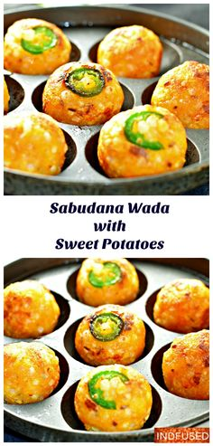 Sabudana Wada with Sweet Potato adds extra flavor and nutrition. Non fried version!