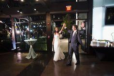 Photographer: Mclellan Style -  Event Planner: Stunning Events -  Modern rooftop wedding Nashville at The Bridge Building -  Florist – Fresh by Carry Ann