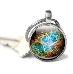 Space Keyring Astronomy Astronomer Gift Galaxy Stars