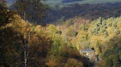 Hard Castle Crags - Gibson Mill in the autumn © National Trust