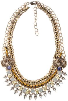 Outhouse Opal Statement Necklace as seen on Sienna Miller at I Love Designer London