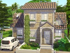 Sims 4 House Plans, The Sims 4 Lots, Woodlands Cottage, Sims House Design, Casas The Sims 4, Sims 4 Build, Outdoor Retreat, Sims Community, Village Houses