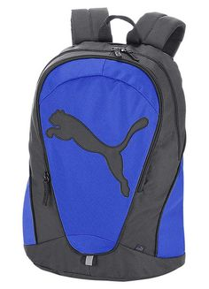 Puma Backpack - Backpack from Puma made of recycled polyester with zipped main compartment, zipped front pocket including a mobile phone pocket and a pen holder. £28. #fintess #health #puma