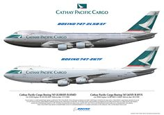 https://flic.kr/p/DQwknP | Cathay Pacifc Cargo Boeing 747 B-HMD B-HVX Airliner Art | Airliners Illustrated® by Nick Knapp©. www.AirlinersIllustrated.com