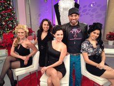 Rocco con Regina Marie Martinez del Rocco Donna Glam Squad en Despierta America