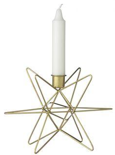 Madam Stoltz / Svícen Star brass 14cm Bella Rose, Candle Holders, Candles, Living Room, Nordic Furniture, Vintage Decor, Danish Design, Scandinavian Design, Decorating Ideas