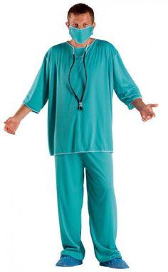 Arztkostüm Doktorkostüm OP Kleidung Chirurgkostüm