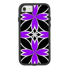Mirrored Celtic ( Purple Invert ) Case-Mate Tough Extreme iPhone 8/7 Case - black and white gifts unique special b&w style