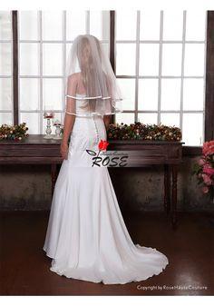 Wedding Veil Bridal Veil Satin Edge Two Layer Tulle Veil Elbow Length With Comb Style BV175 - Wedding Veil