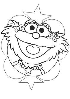 zoe sesame street coloring pages - photo#28