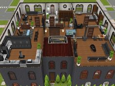 Three Story Apartments (Level 3 Penthouse) #thesims #simsfreeplay #housedesign #designedbyjade xx