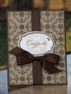 Elegant Congrats Card by @Amy Kolling