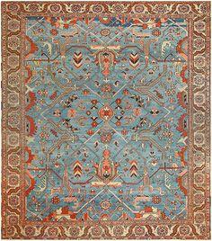 Antique Persian Heriz Serapi Rug 47974 by Nazmiyal