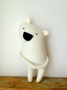 Boris the Shy Polar Bear Plush Toy. $42,00, via Etsy.