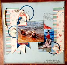 By the Shore Scrapbooking Layout