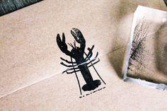 Lobster Stamp - Lobster Rubber Stamp - Seafood Rubber Stamp, Ocean Rubber Stamp door DeepSeaStamps op Etsy https://www.etsy.com/nl/listing/150359030/lobster-stamp-lobster-rubber-stamp