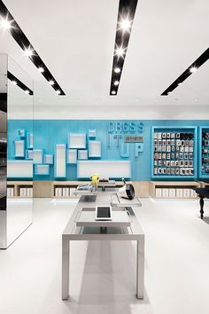 AER retail interior | Wall boxes and pegboard as a slatwall alternative: