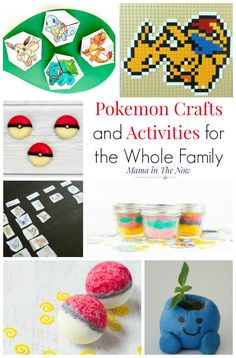 Pokemon crafts and activities for kids of all ages. Have Pokemon fun with the whole family. DIY Pokemon gifts, Pokemon snacks, Pokemon paper crafts, Pokemon LEGO ideas and Pokemon learning activities. Craft Projects For Kids, Easy Crafts For Kids, Summer Crafts, Creative Crafts, Holiday Crafts, Fun Crafts, Diy And Crafts, Paper Crafts, Creative Kids