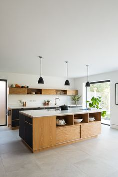 Home Interior Layout Bespoke Plywood Island by Uncommon Projects.Home Interior Layout Bespoke Plywood Island by Uncommon Projects Open Plan Kitchen, New Kitchen, Kitchen Dining, Kitchen Decor, Kitchen Storage, Kitchen Island, Kitchen Organization, Organization Ideas, Kitchen Ideas
