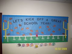 Welcome Back to School Bulletin Board. I am a HUGE football fan!