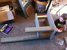 How to build a cat tower for way less than they charge in the store!!