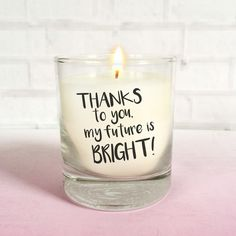 Bright Future Thank You Teacher Scented Candle