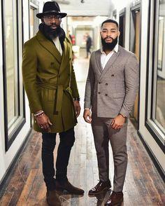 Sharing photos of black men to combat the erasure in the beard movement. Black Men Beards, Handsome Black Men, Sharp Dressed Man, Well Dressed Men, Men In Black, Black Men In Suits, Dapper Men, Raining Men, Gentleman Style