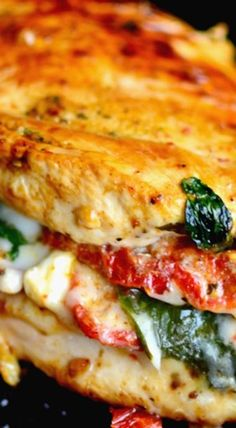 Sundried Tomato Spinach and Cheese Stuffed Chicken
