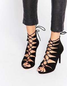 Faith Land Ghillie Lace Up Heeled Sandals