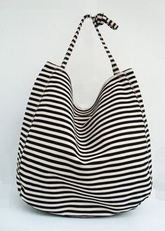 Big+tote+bag+black+white+by+CrazyBoy+on+Etsy