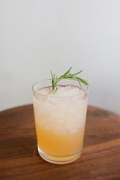 "Sunday Punch  ""As the name implies, this is the ideal cocktail for winding down the weekend. The tart grapefruit and musty, savory notes from the rosemary compliment each perfectly...just like a Sunday afternoon and a mellow vodka cocktail.""     1 oz Vodka  1/2 oz Rosemary Simple Syrup  1/2 oz Grapefruit Juice  Rosemary Sprig Garnish"