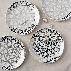 Winter Ice Canapé Plate by West Elm