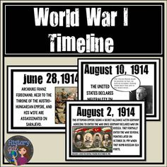 $ This World War I Printable Timeline contains 33 events that occurred during World War I beginning with the assassination of Archduke Franz Ferdinand and ending with the Treaties of Versailles and Sevres.