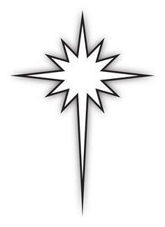 black and white epiphany star clipart bethlehem clip art and star rh pinterest com Star of Bethlehem Quilt Elegant Star of Bethlehem Clip Art