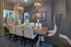 Contemporary Dining Room.  Eating like a King