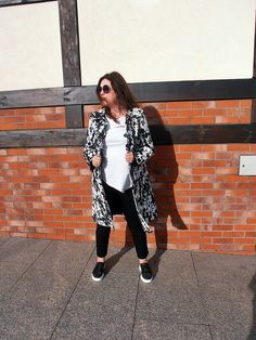 Black and White Berlin Fashion, Dr. Martens, Kimono Top, Punk, Black And White, Women, Style, Swag, Black N White