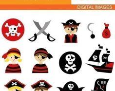 Pirate Clipart Clip Art Set cute pirate pirate clip by YenzArtHaut