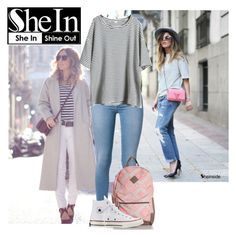 """""""Shein"""" by mirelaagm ❤ liked on Polyvore featuring 7 For All Mankind and Converse"""