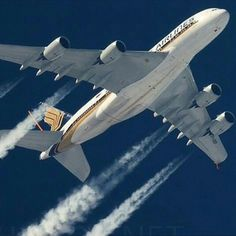 Singapore Airlines A380   ✈ Follow civil aviation on AerialTimes. Visit our boards on pinterest.com/aerialtimes or like us on www.facebook.com/aerialtimes
