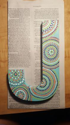 Decorated letter J
