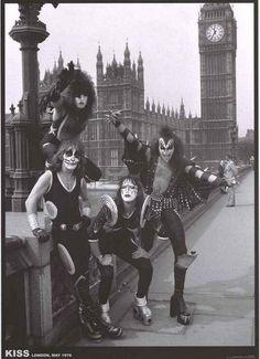 KISS in London, 1976.