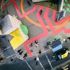 Artistic footprint in Santiago city