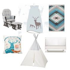 In celebration of @weeurban new design in their premium brand of sleep bags a little tribal nursery theme featuring glider & rug from @target pillow from @zazzle teepee from @thelandofnod & @oeufnyc crib